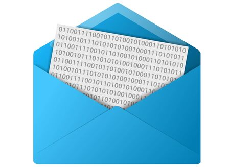 Colored email icon for use as a contact button photo