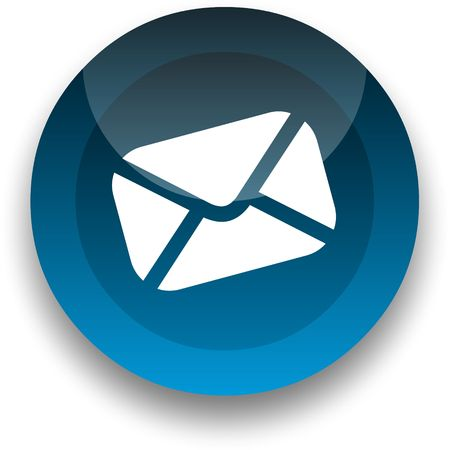 webmail: Email icon for use as a contact button Stock Photo