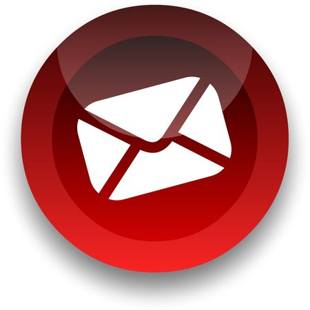 Email icon for use as a contact button Stock Photo