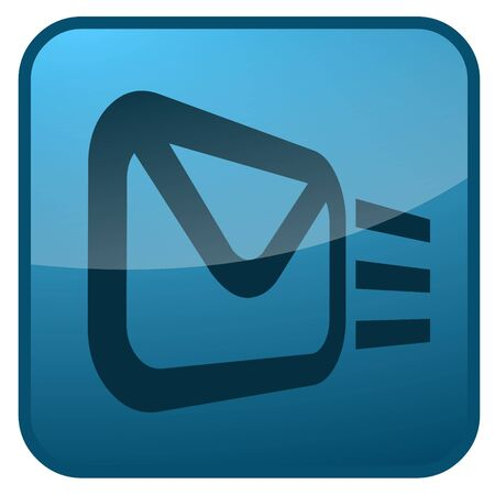 Email icon for use as a contact button Stock Photo - 3538748