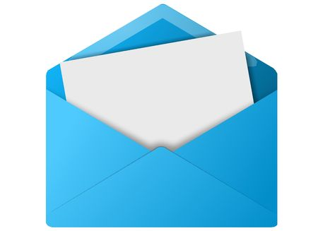 Colored envelope icon for use as a contact button photo