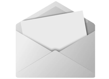 Colored envelope icon for use as a contact button Stock Photo - 3538719
