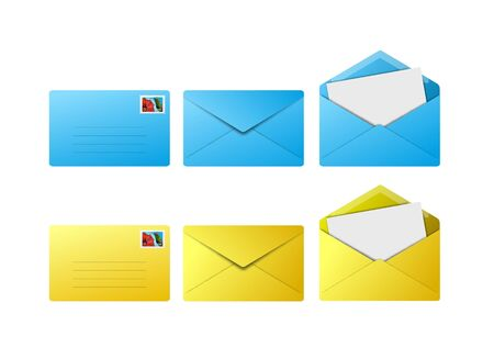 Colored envelope icon for use as a contact button