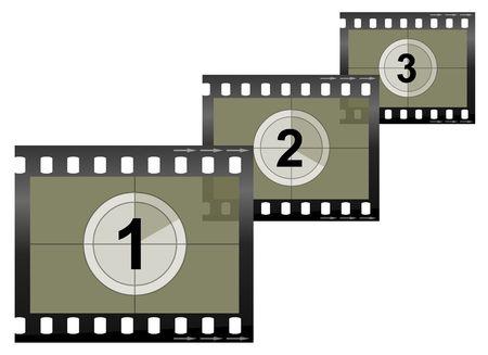 Imagen de una cámara / vídeo tira de película Foto de archivo
