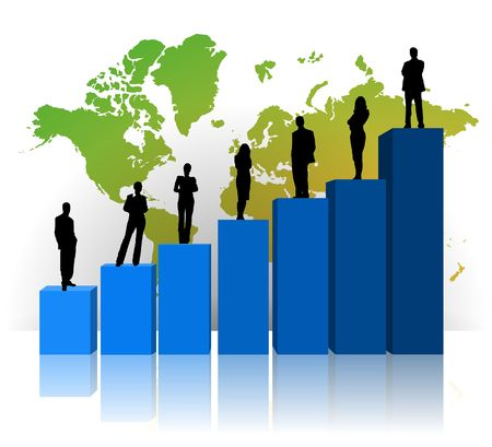 Graphchart for use with business and finance themes Stock Photo