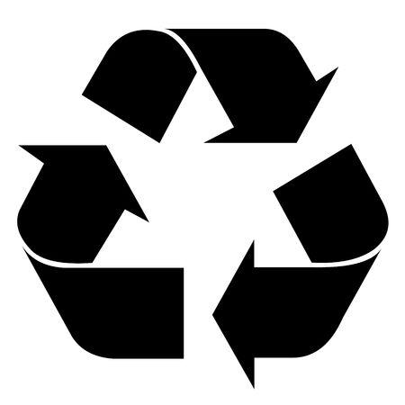 reciclar basura: S�mbolo de reciclaje para el dise�o web o el uso Foto de archivo