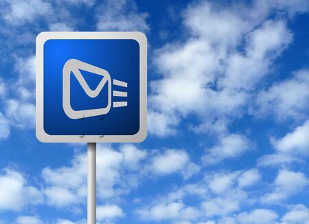 Email Sign Post Stock Photo - 3624033
