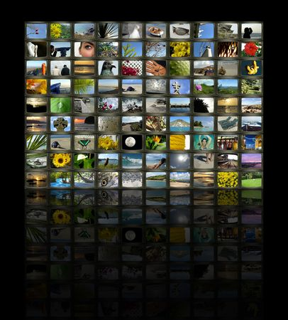 A series of images to make up a TV Wall style collage Stock Photo - 3554058
