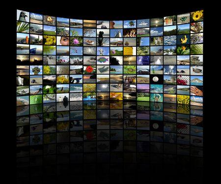 fiestas electronicas: Una serie de im�genes para hacer un muro de TV estilo collage