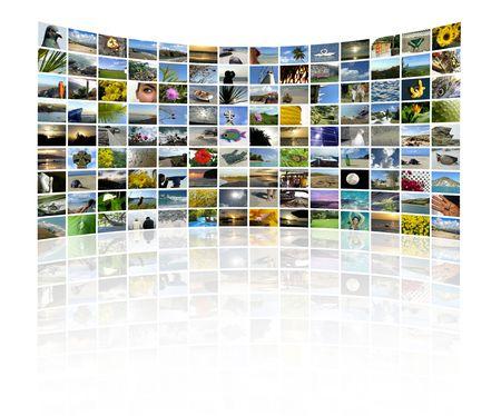 fiestas electronicas: Una serie de im�genes para hacer un collage de estilo TV Wall Foto de archivo