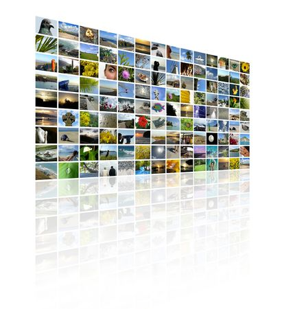 A series of images to make up a TV Wall style collage Stock Photo - 3554057