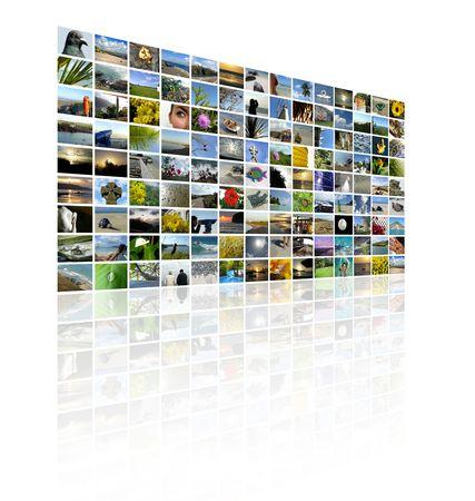 fiestas electronicas: Una serie de im�genes para hacer un muro de TV estilo collage  Foto de archivo