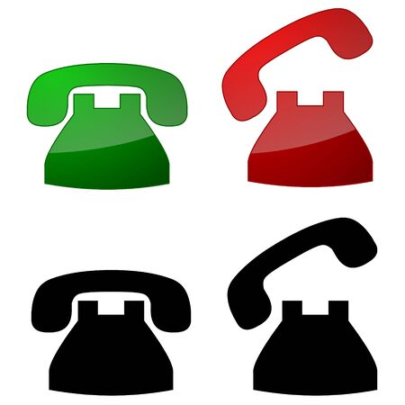 Series of phone symbols, on-hook & off-hook Stock Photo - 3630125