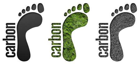 Carbon Footprint symbols for web or design use