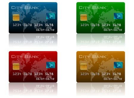 chip and pin: Credit Card Images Stock Photo