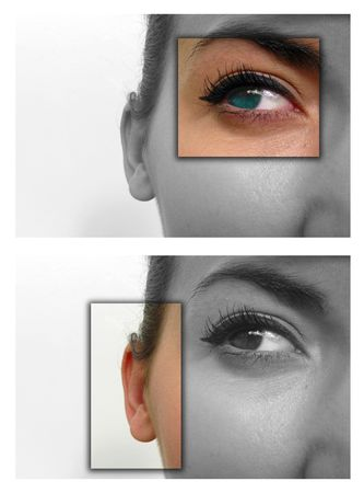 sight: Facial close ups to show deaf & blind