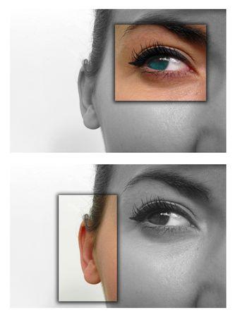 Facial close ups to show deaf & blind