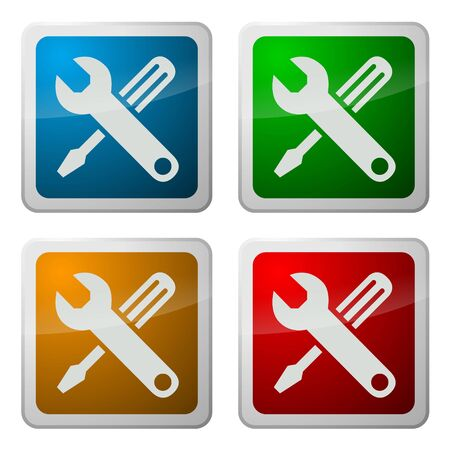 System Support Buttons Stock Photo - 3647520