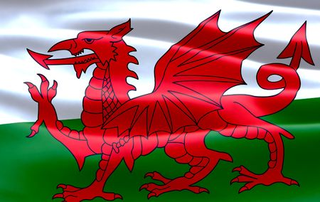 welsh flag: Bandiera gallese