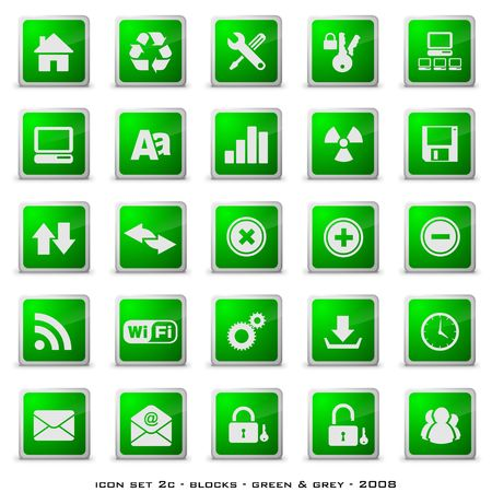 Web styled buttons including home, download, email etc Stock Photo - 3696947