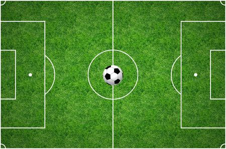 premiership: Football Pitch Stock Photo