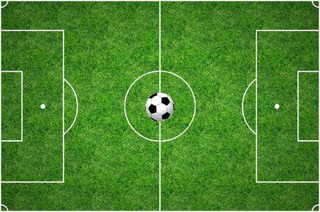 premier league: Football Pitch Stock Photo