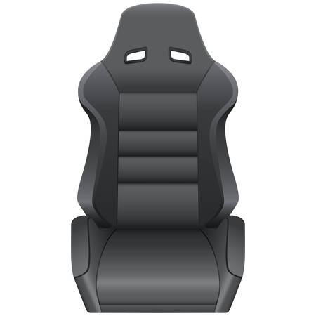 motorized: car seat Illustration