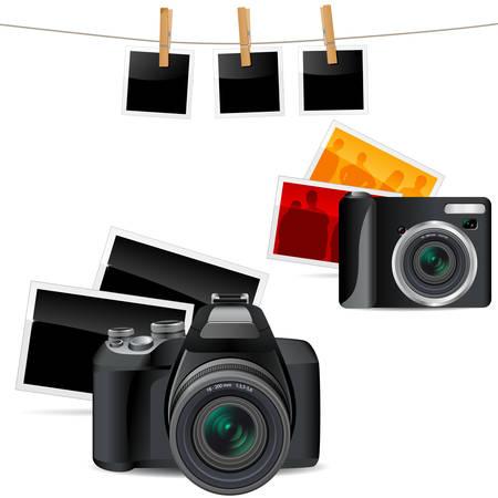 digital photography icon set Vector