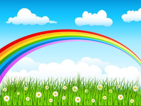 arcoiris: Arco iris en el cielo