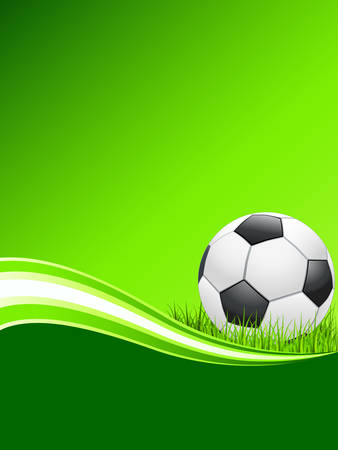 green poster with football Stock Vector - 8145470