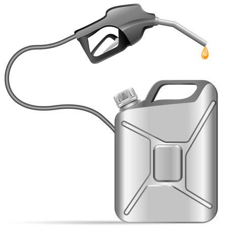 mobil: benzine pomp en kan Stock Illustratie