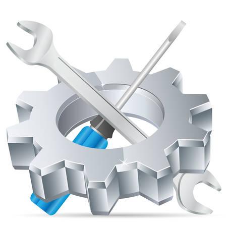 dienstverlening: gereedschaps pictogram Stock Illustratie
