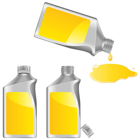 oil change: engine oil in the bottle