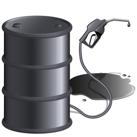 oliedrum: gas pomp en kan