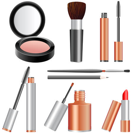 mascara: make-up articles Illustration