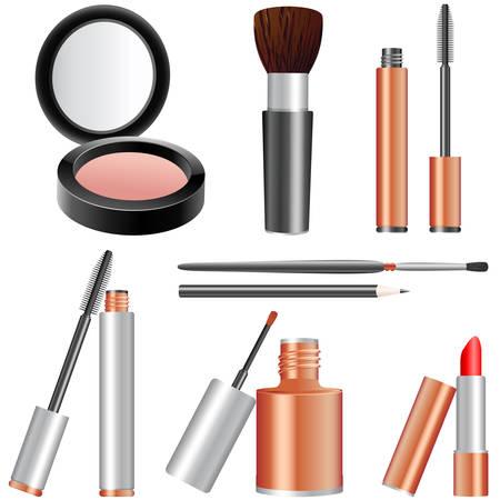 artikelen: make-up artikelen Stock Illustratie