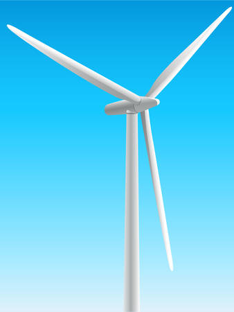 alternatively: windmill, wind energy Illustration