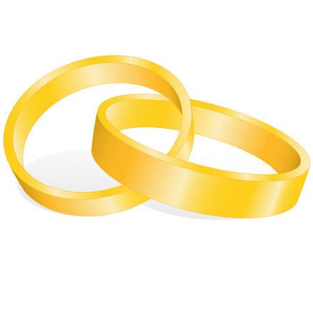 marrying: golden wedding-rings