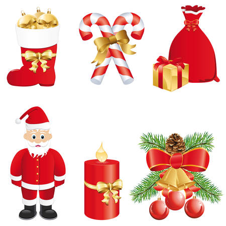 jingle bells: christmas icon set