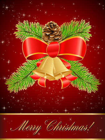 bestowal: red christmas card Illustration