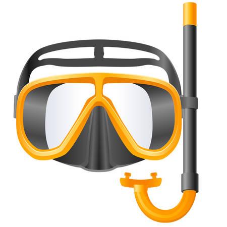 diving: scuba mask and snorkel  Illustration
