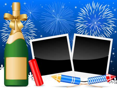 fin d annee: Carte de la veille du nouvel an