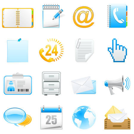 piktogramm: office and communication icon set