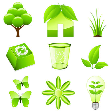 green ecology signs Stock Vector - 8503192