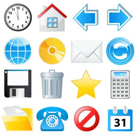 web icon set  Stock Vector - 8503189