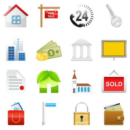 real estate icon set Illustration