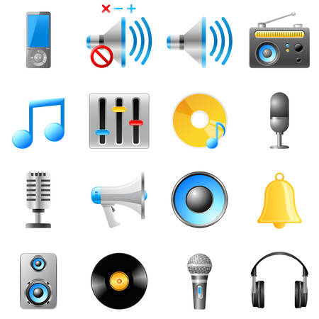 music icon set Stock Vector - 8503197