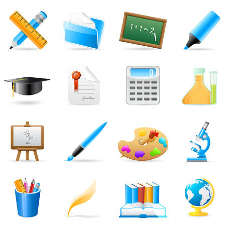 study concept: science and art icons