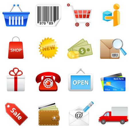 shopping web icon set Stock Vector - 8509637
