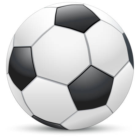 realistic soccer ball Stock Vector - 8576478
